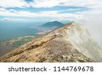 gases and fumes on the summit... | Shutterstock . vector #1144769678
