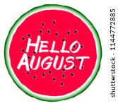 hello august summer concept.... | Shutterstock .eps vector #1144772885