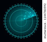 Vector Blue Radar Screen....