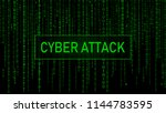 cyber attack. hacking. digital... | Shutterstock .eps vector #1144783595