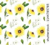watercolor seamless pattern... | Shutterstock . vector #1144785785