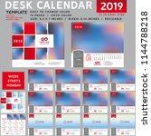 desk calendar 2019  desktop... | Shutterstock .eps vector #1144788218