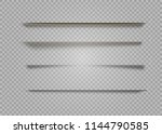 vector shadows isolated. page... | Shutterstock .eps vector #1144790585