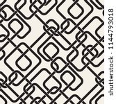 seamless pattern with maze or... | Shutterstock .eps vector #1144793018