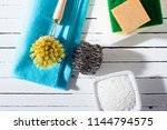 citric acid  cleaning brush ... | Shutterstock . vector #1144794575