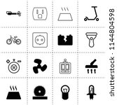 set of 16 electric filled and... | Shutterstock .eps vector #1144804598