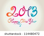 happy new year 2013 curly hand... | Shutterstock .eps vector #114480472
