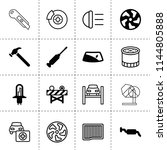 set of 16 repair filled and... | Shutterstock .eps vector #1144805888