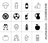 set of 16 fresh filled and... | Shutterstock .eps vector #1144806548