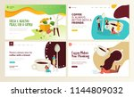 set of web page design... | Shutterstock .eps vector #1144809032