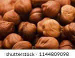 hazelnut background or texture  ... | Shutterstock . vector #1144809098