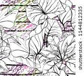 tropical  stripe  animal motif. ... | Shutterstock .eps vector #1144812335