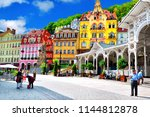 karlovy vary  czech republic  ... | Shutterstock . vector #1144812878