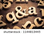 question and answer  q and a by ... | Shutterstock . vector #1144813445