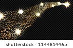 gold waves with a glitter... | Shutterstock . vector #1144814465