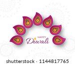 diwali festival holiday design... | Shutterstock .eps vector #1144817765