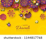 diwali festival holiday design... | Shutterstock .eps vector #1144817768