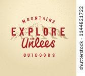 vector vintage hand draw quote... | Shutterstock .eps vector #1144821722