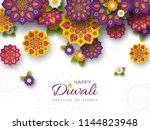 diwali festival holiday design... | Shutterstock .eps vector #1144823948