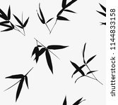 seamless pattern with bamboo... | Shutterstock .eps vector #1144833158