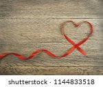 romantic valentines day red... | Shutterstock . vector #1144833518