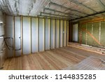 room under construction and... | Shutterstock . vector #1144835285