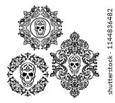 vintage baroque frame scroll...   Shutterstock .eps vector #1144836482