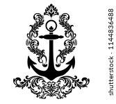 vintage baroque frame scroll...   Shutterstock .eps vector #1144836488