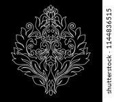 vintage baroque frame scroll...   Shutterstock .eps vector #1144836515
