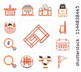 set of 13 simple editable icons ... | Shutterstock .eps vector #1144838465