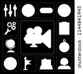 set of 13 simple editable icons ... | Shutterstock .eps vector #1144841945