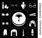 set of 13 simple editable icons ... | Shutterstock .eps vector #1144845065