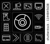 set of 13 simple editable icons ...   Shutterstock .eps vector #1144845638
