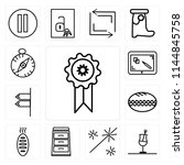 set of 13 simple editable icons ...   Shutterstock .eps vector #1144845758