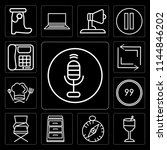 set of 13 simple editable icons ...   Shutterstock .eps vector #1144846202