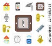 set of 13 simple editable icons ... | Shutterstock .eps vector #1144851935