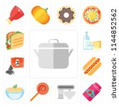 set of 13 simple editable icons ... | Shutterstock .eps vector #1144852562