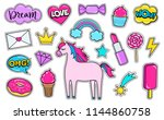 modern cute girly colorful...   Shutterstock .eps vector #1144860758