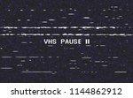 glitch vhs on black background. ... | Shutterstock .eps vector #1144862912