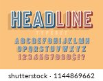 condensed original 3d retro... | Shutterstock .eps vector #1144869662