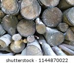 firewood background ... | Shutterstock . vector #1144870022
