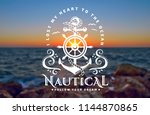 vector emblem with anchors ... | Shutterstock .eps vector #1144870865