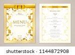 design restaurant menu template ... | Shutterstock .eps vector #1144872908