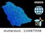blue hexagon saudi arabia map.... | Shutterstock .eps vector #1144875548