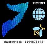 hexagon blue somalia map.... | Shutterstock .eps vector #1144875698