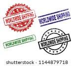 worldwide shipping seal prints... | Shutterstock .eps vector #1144879718