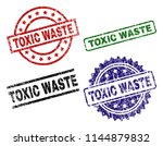 toxic waste seal prints with... | Shutterstock .eps vector #1144879832