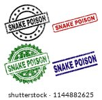snake poison seal prints with... | Shutterstock .eps vector #1144882625
