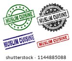 muslim cuisine seal prints with ...   Shutterstock .eps vector #1144885088