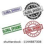 global epidemic seal prints...   Shutterstock .eps vector #1144887308